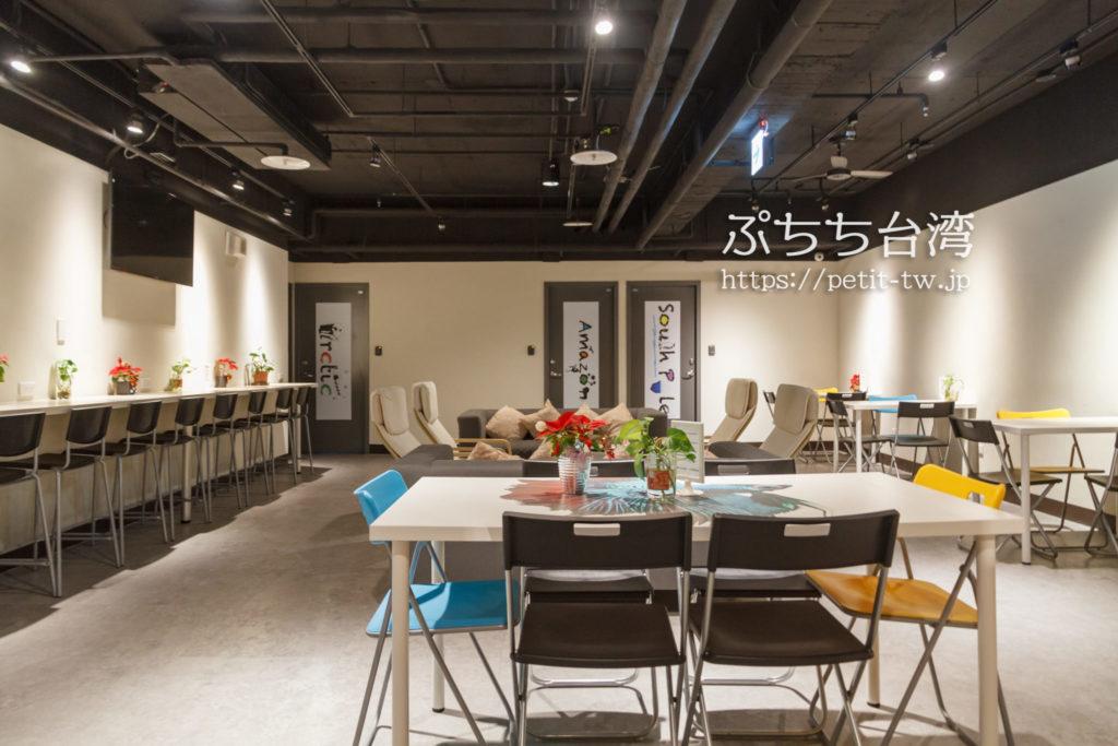 ケイブマンホステル台北の共用スペース
