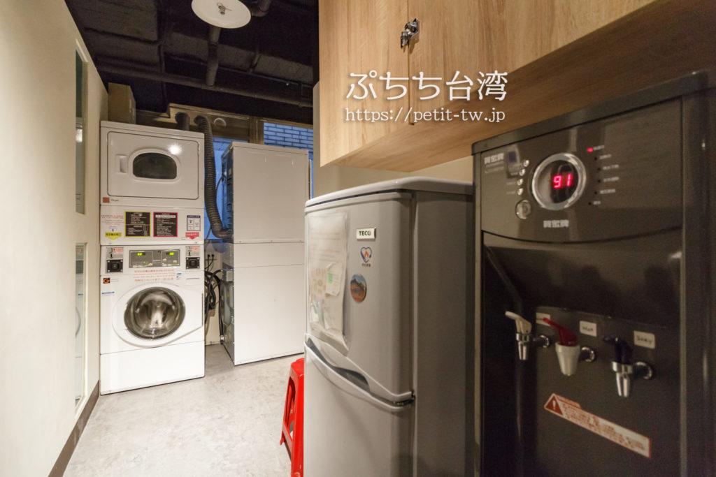 ケイブマンホステル台北の洗濯機