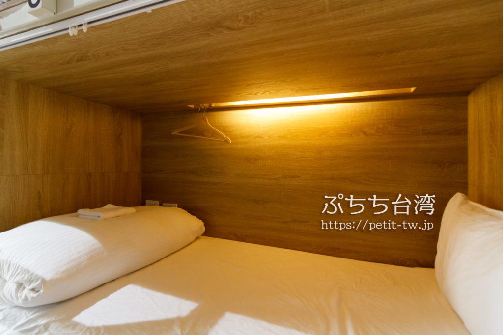 ペーパープレーンホステルのベッド