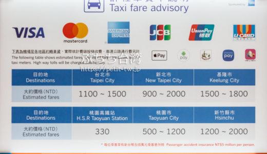 桃園空港から台北市内へタクシーで移動する際の料金目安