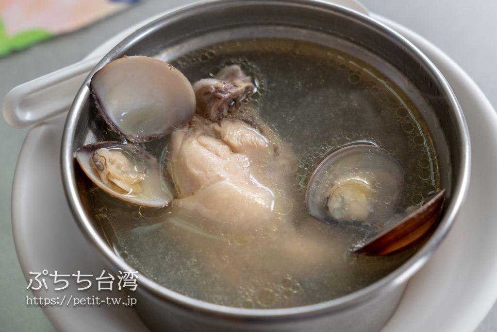 高雄 大圓環雞肉飯の蛤仔雞湯