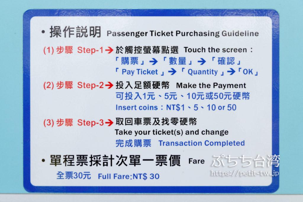高雄LRT(ライトレール)の現金支払い方法