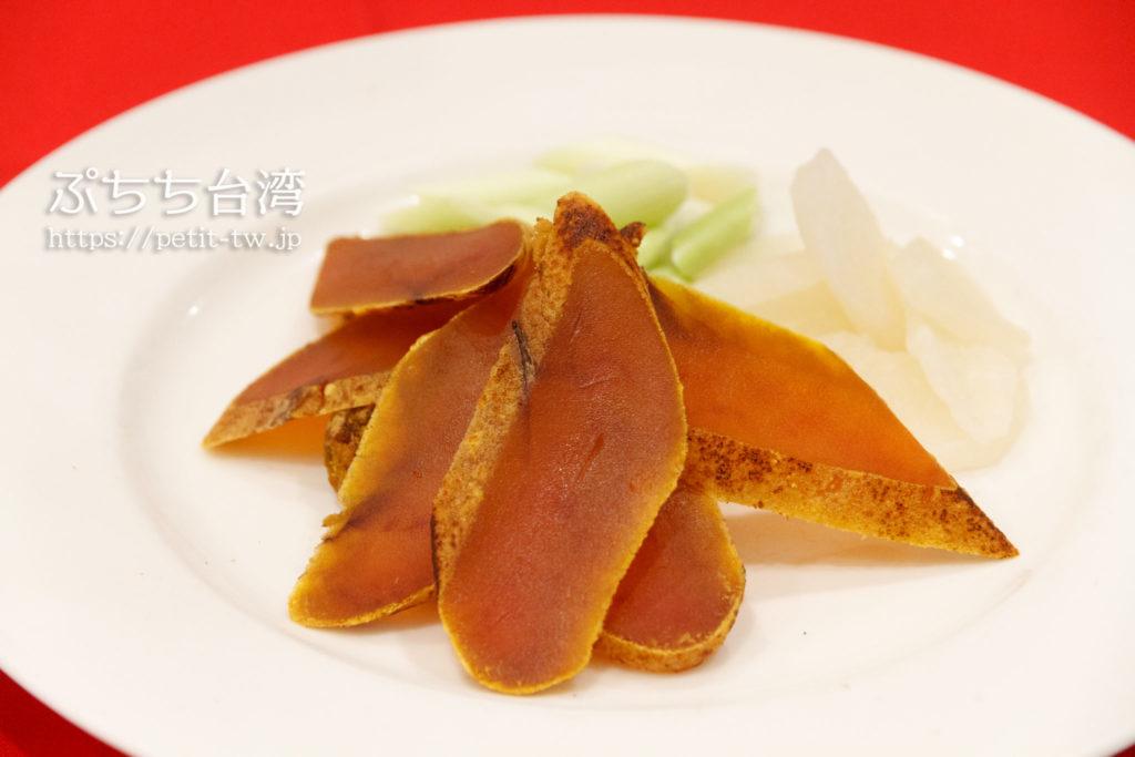 台南の阿美飯店のカラスミ