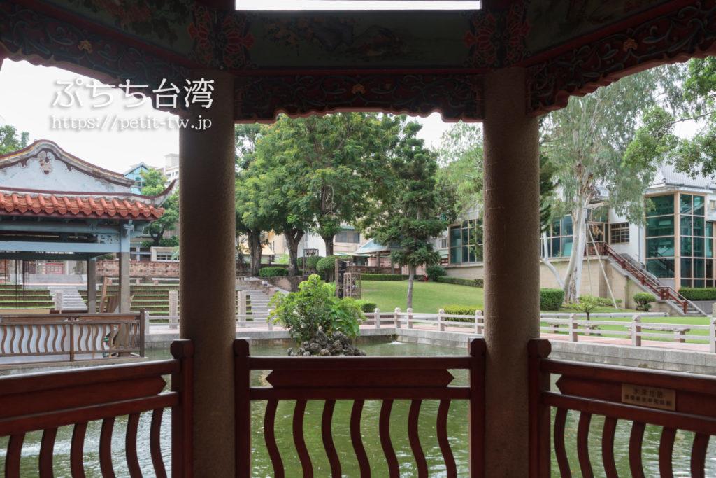 台南の呉園の亭台