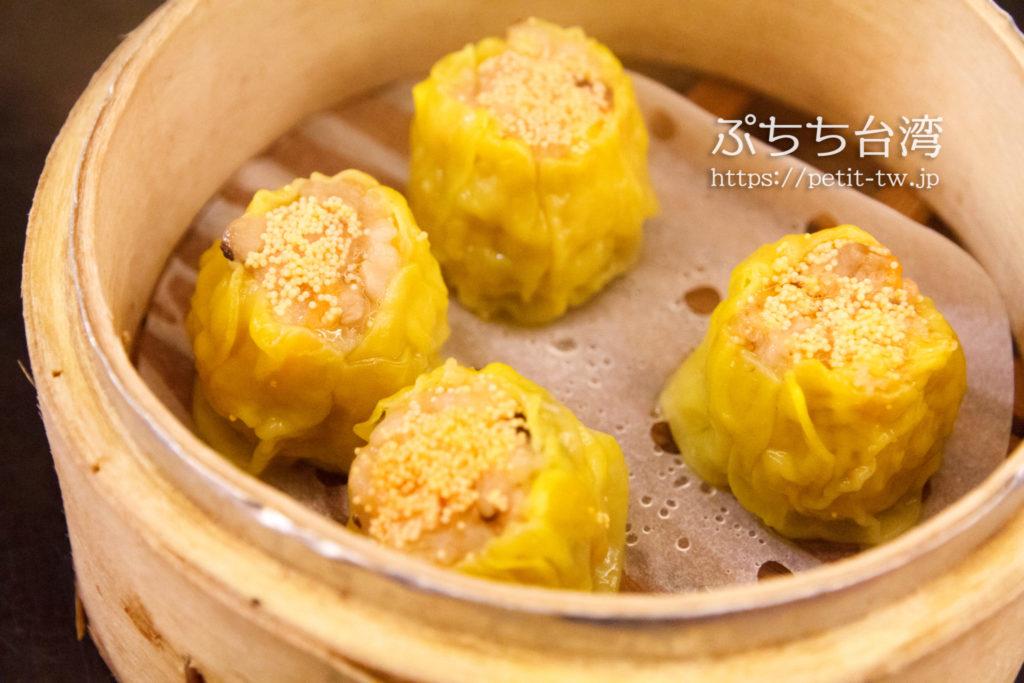 杭州小籠湯包の海老カニみそシュウマイ