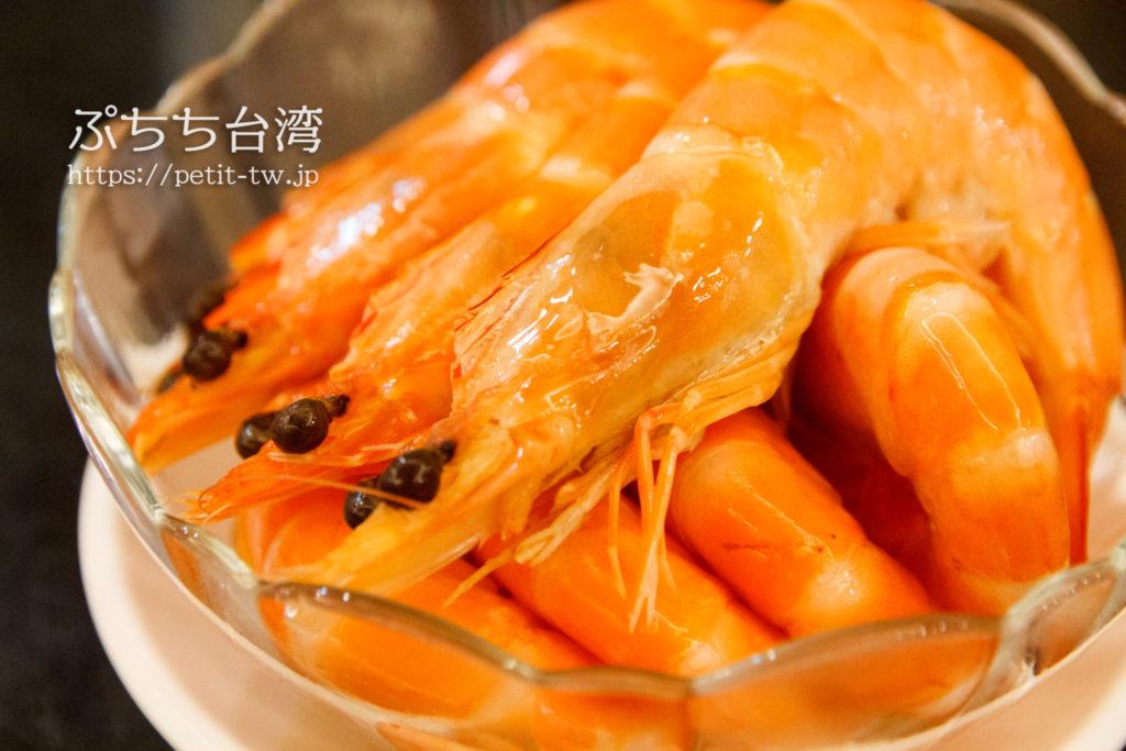 杭州小籠湯包の酔っ払い海老