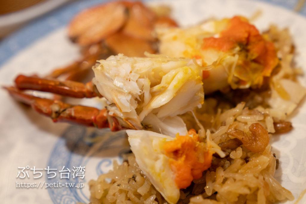 阿霞飯店の蟹おこわ