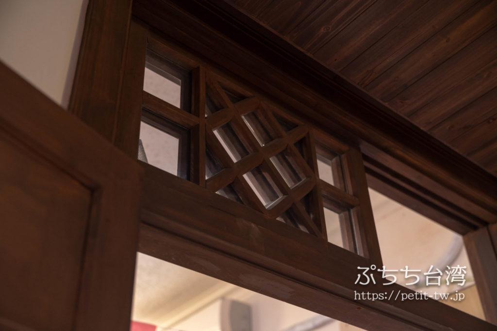 台南の林百貨店の木枠