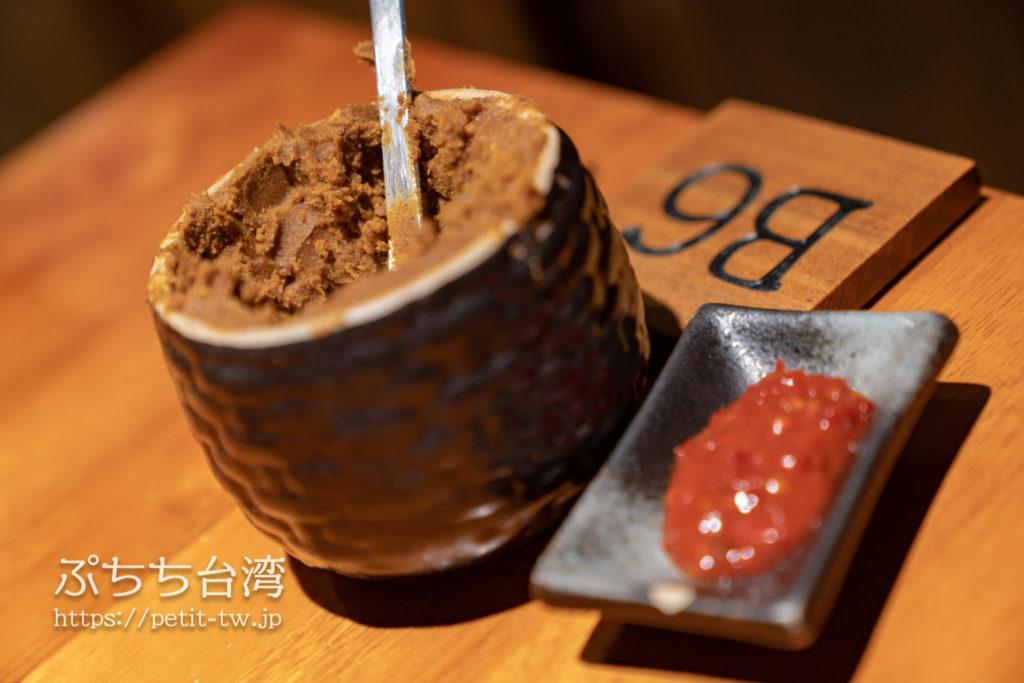 林東芳牛肉麺の調味料