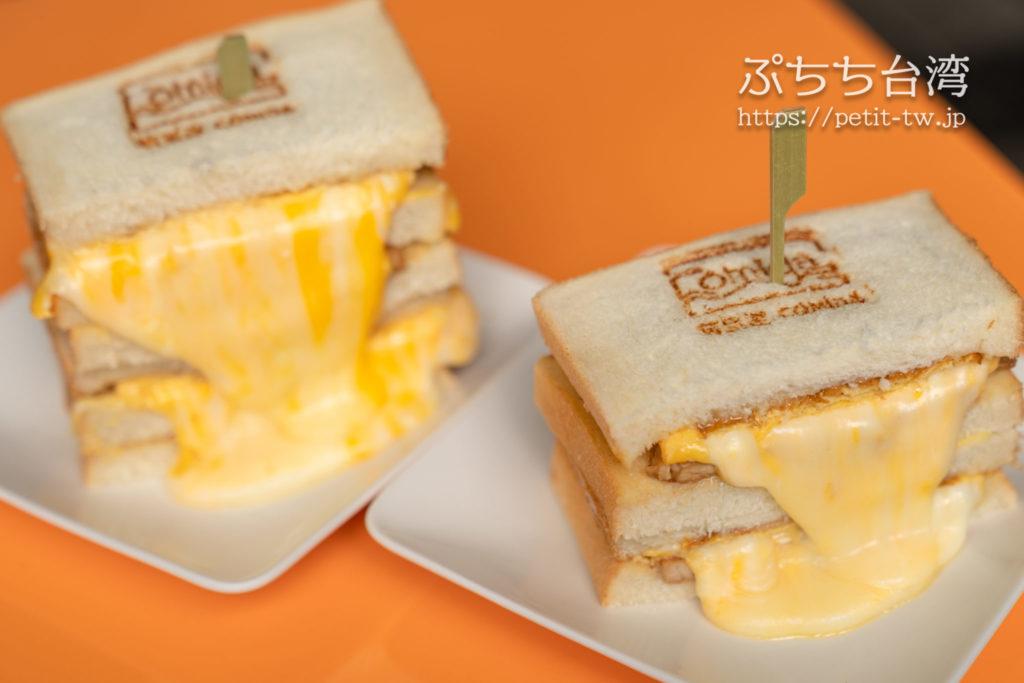 可蜜達Comida炭烤吐司のチーズトースト
