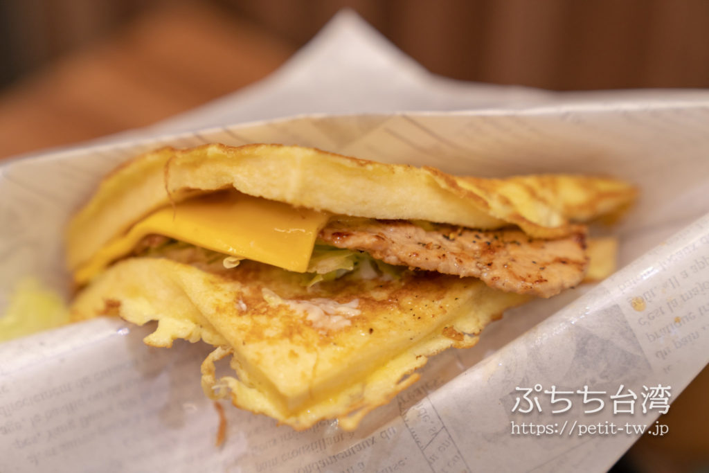 Mr.Lin's Sandwichの豚肉サンドイッチ