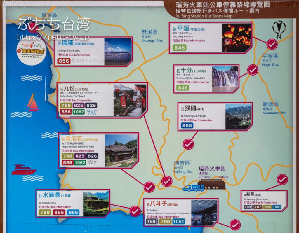 瑞芳駅のバス路線
