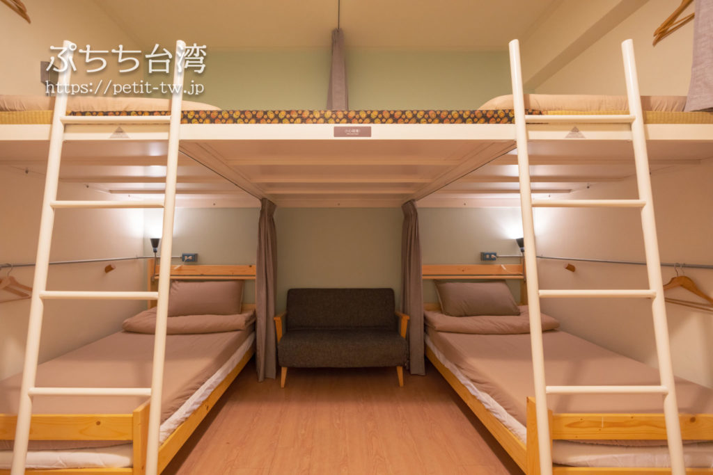漫半拍 Lento Hostel台南のドミトリールーム