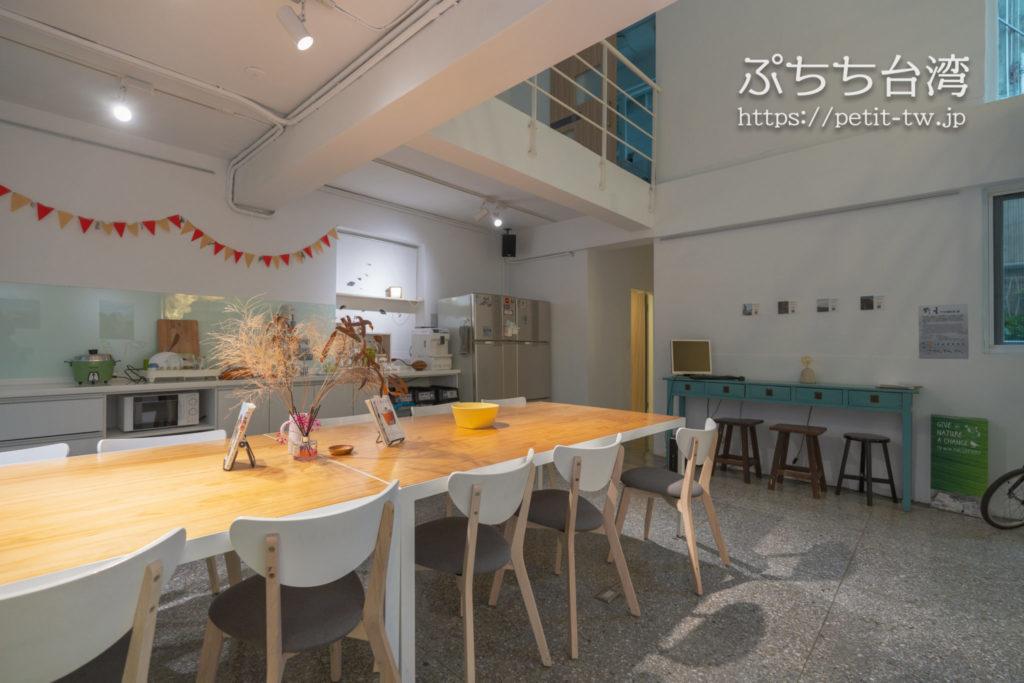 フリップフロップガーデン台北の共用キッチン