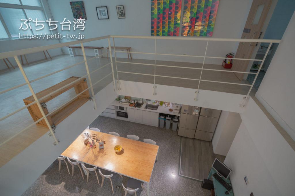 フリップフロップガーデン台北の共有ラウンジ