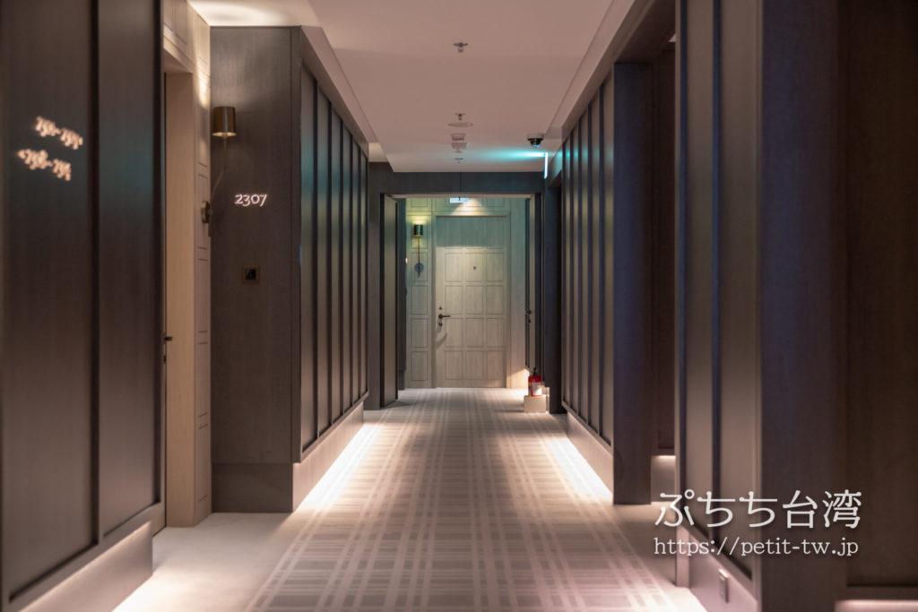 台北マリオットホテル(台北萬豪酒店)の内廊下