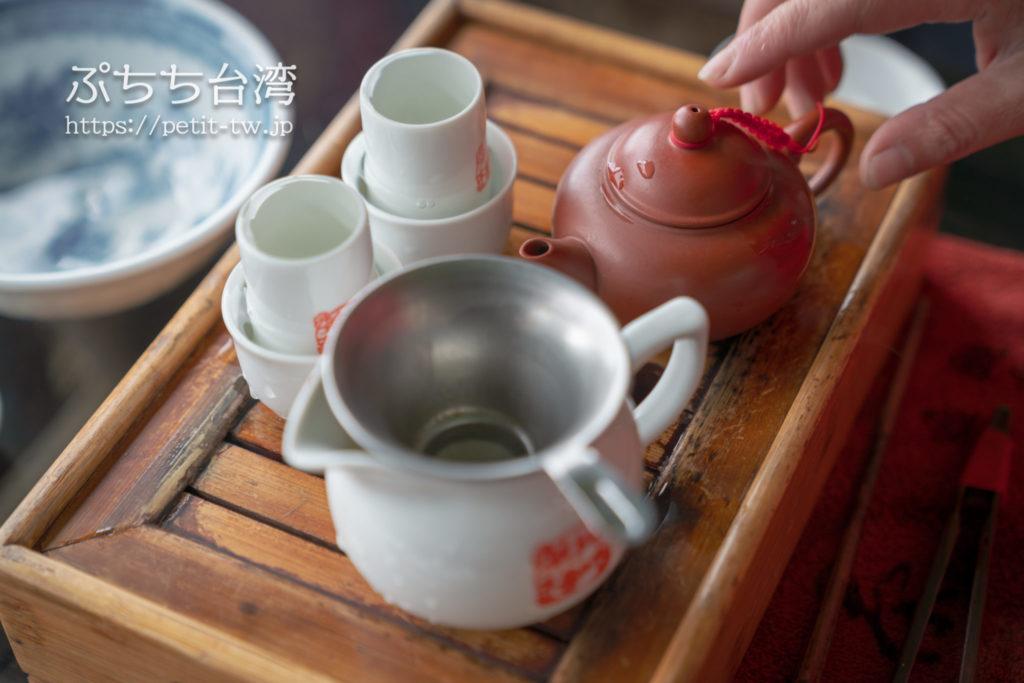 阿妹茶楼のお茶の入れ方