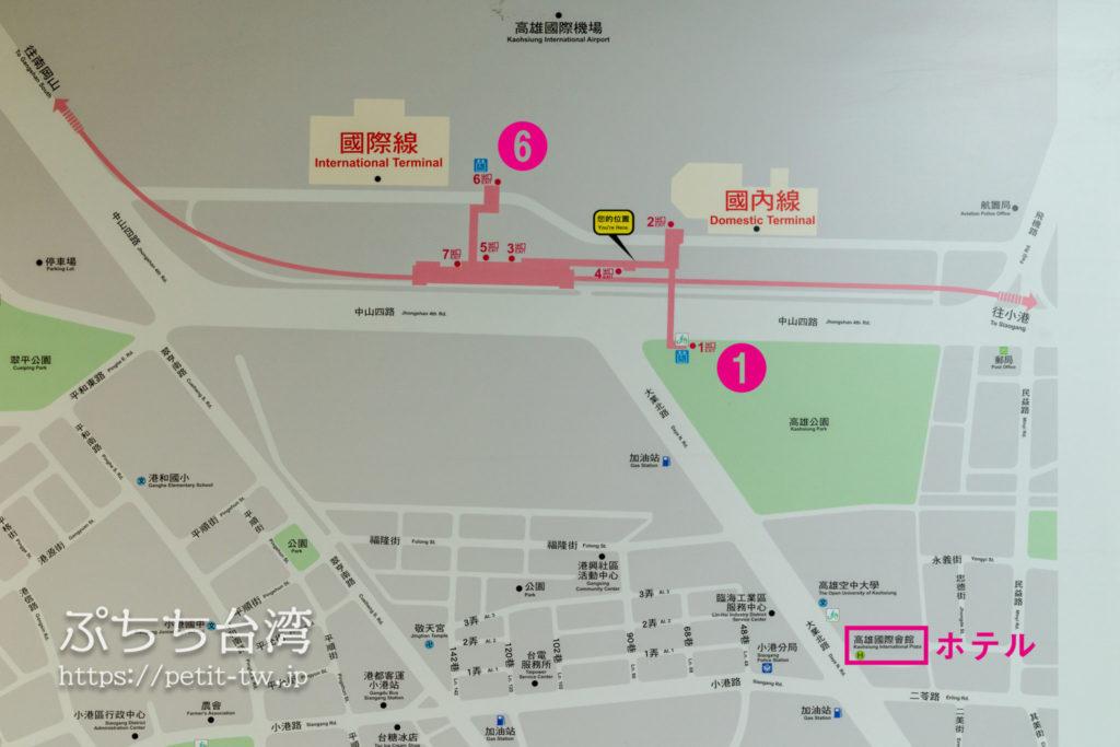 高雄国際空港の周辺マップ