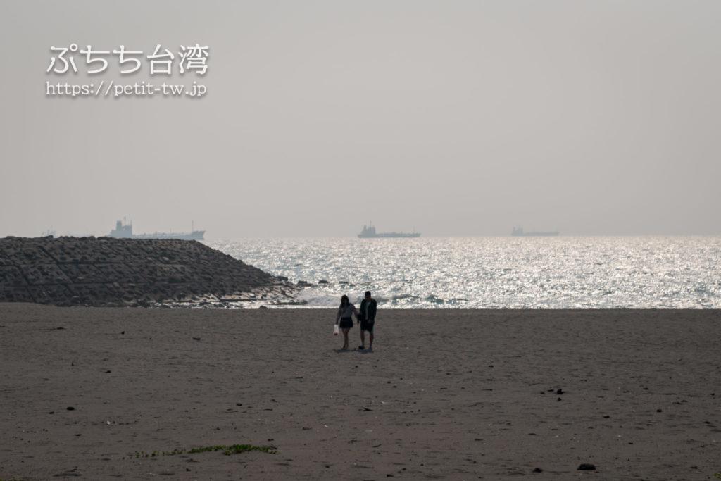 旗津半島の海沿い