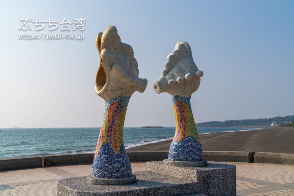 旗津半島の旗津貝殻館のオブジェ