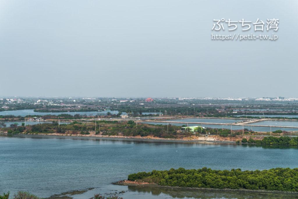 クラウンプラザホテル台南のクラウンプラザ スペシャルビュー ルーム バルコニーからの眺望