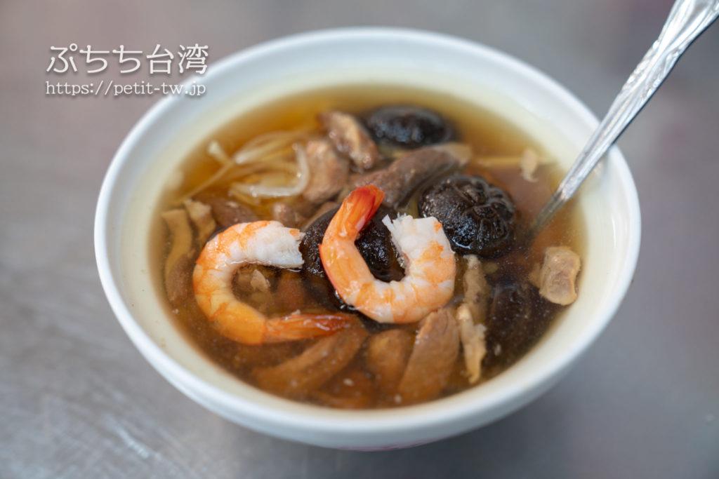 石精臼蚵仔煎の椎茸スープご飯