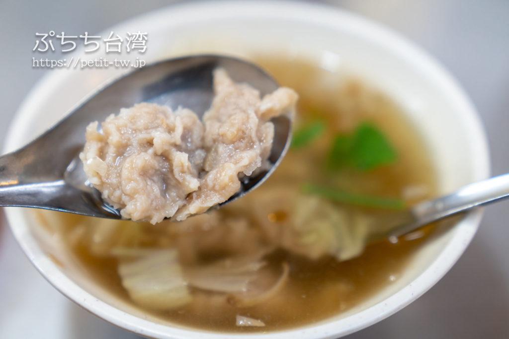 基隆廟口夜市の天一香肉羹順の肉つみれスープ