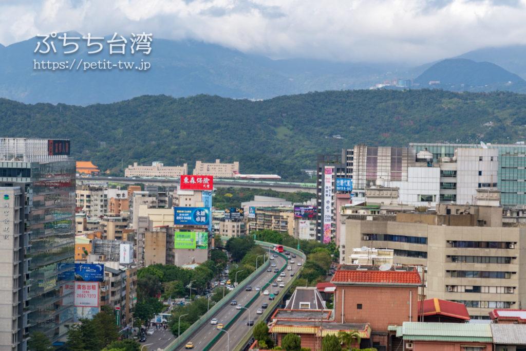 コートヤード バイ マリオット台北ダウンタウンのクラブラウンジ テラスからの眺望