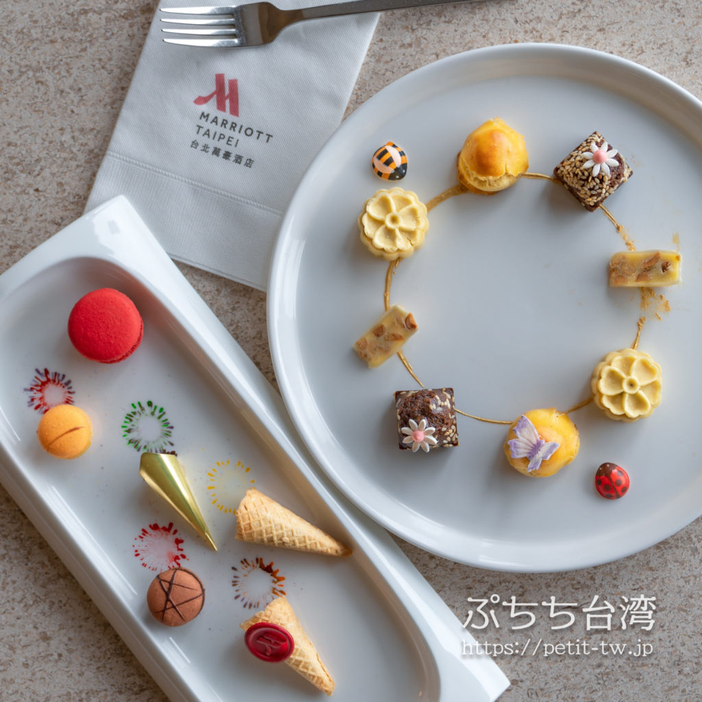 台北マリオットホテル(台北萬豪酒店)の「New Year Package」ウェルカムデザート