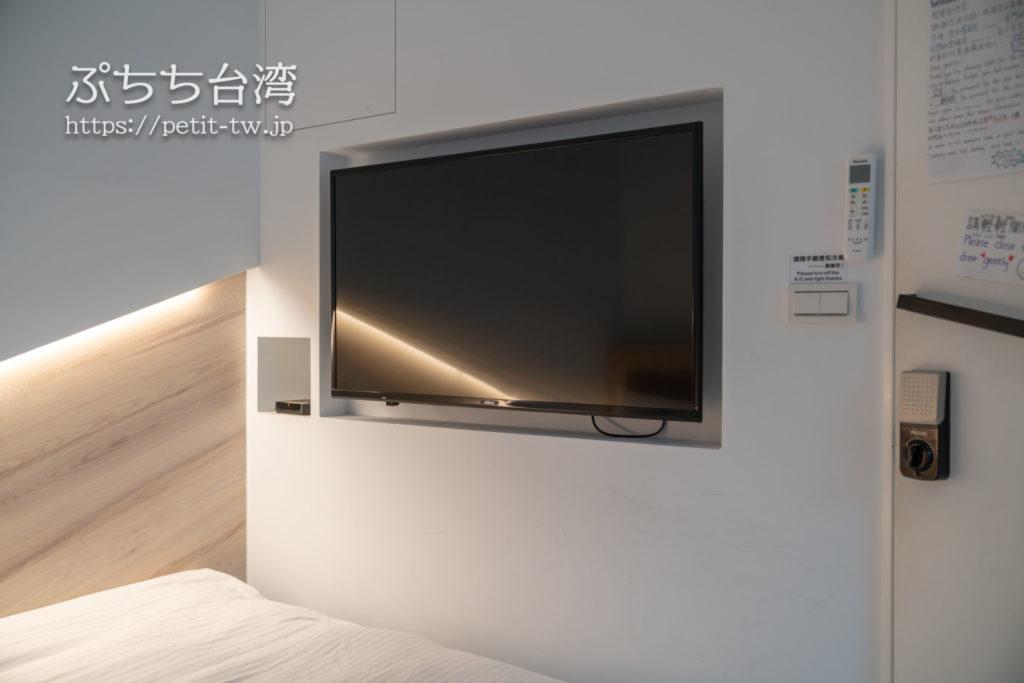 基隆の軽旅背包客桟 ライトイン LIGHT INN ホステルのバジェットダブルルーム