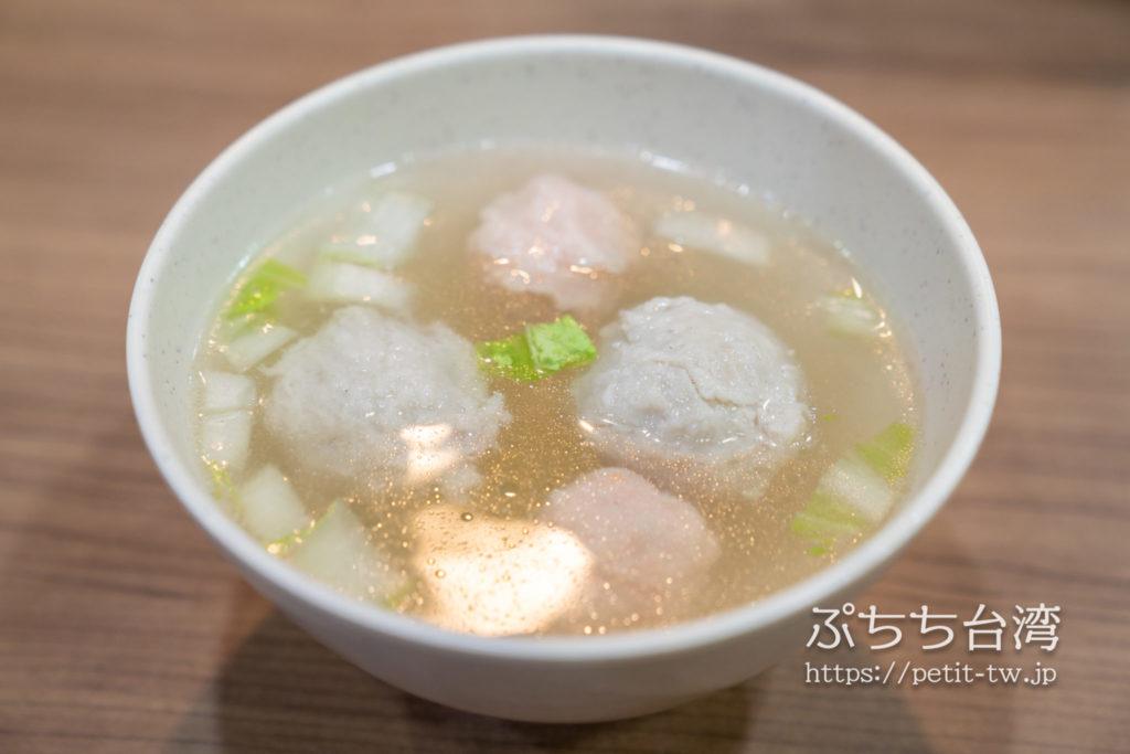 周氏蝦捲の魚つみれスープ
