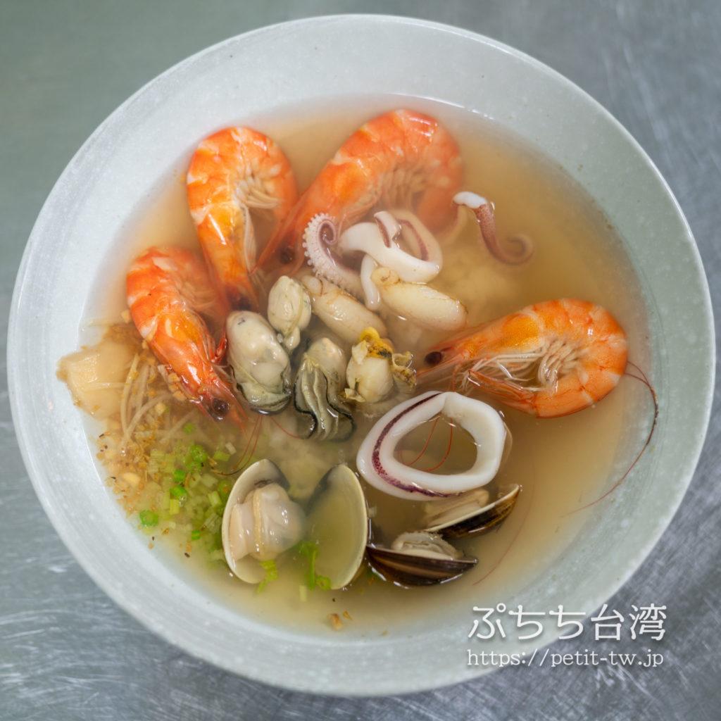 活跳跳干貝海産粥の海鮮粥