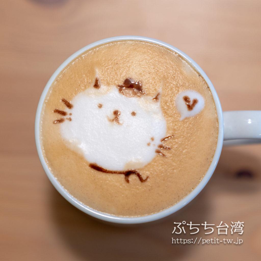 猴硐のカフェ MEOW MEOW 喵喵の猫カフェラテアート
