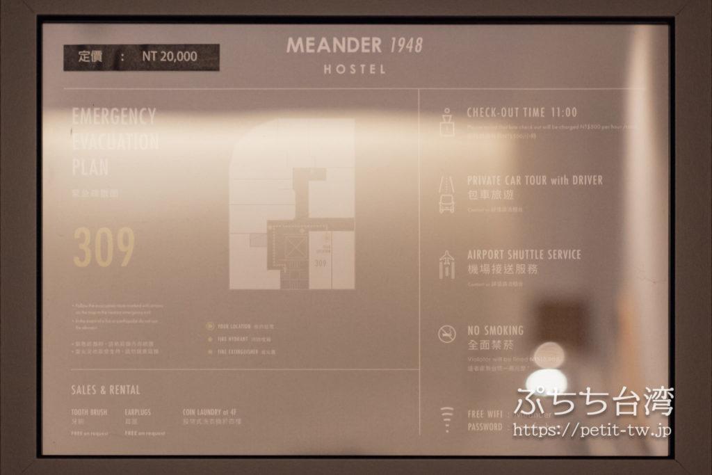 Meander 1948 ミアンダー ホステルのフロアマップ