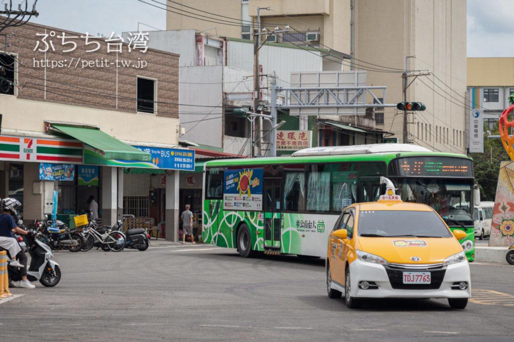 玉井の台南行き緑幹線バス