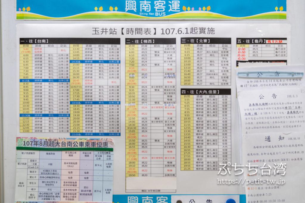 台南路線バス 緑幹線の路線図(※クリックで拡大します)