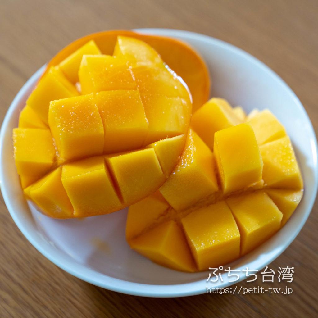 玉井のマンゴー市場で購入した愛文マンゴー