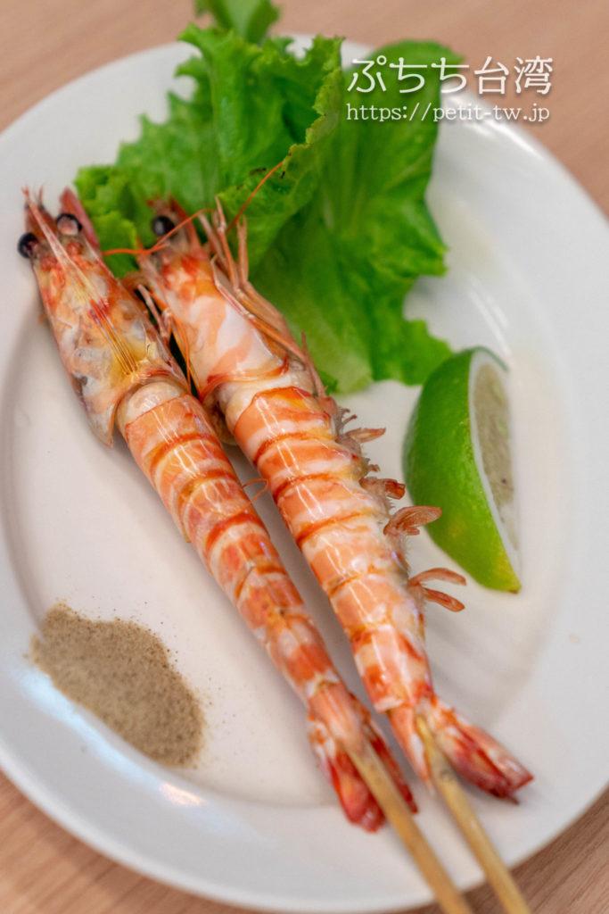 海味澎湖平價活海鮮の焼きエビ