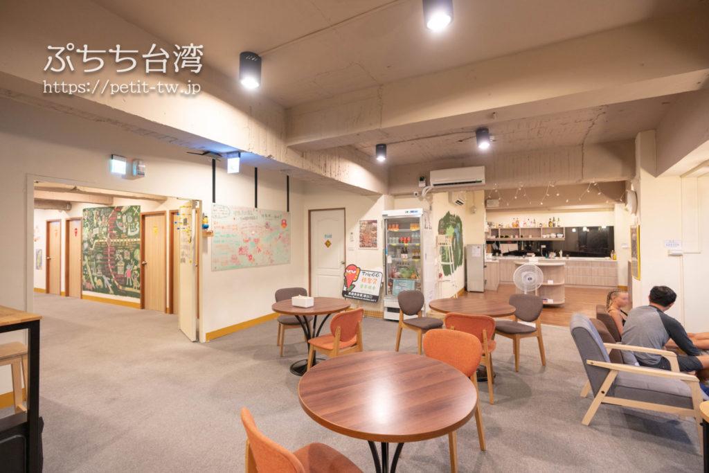 トリップGGホステル高雄(旅聚居青年旅舎)の共用スペースのラウンジ