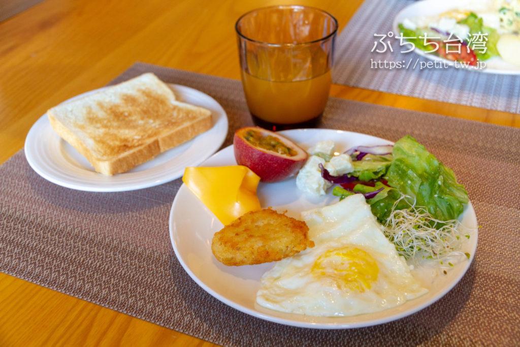 サンムーンレイク ブルースカイベイB&B 藍天水湾民宿の朝食