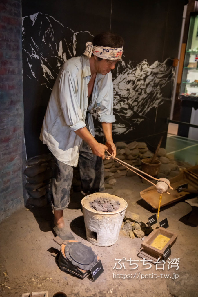金瓜石 黄金博物館(新北市立黃金博物館)の館内
