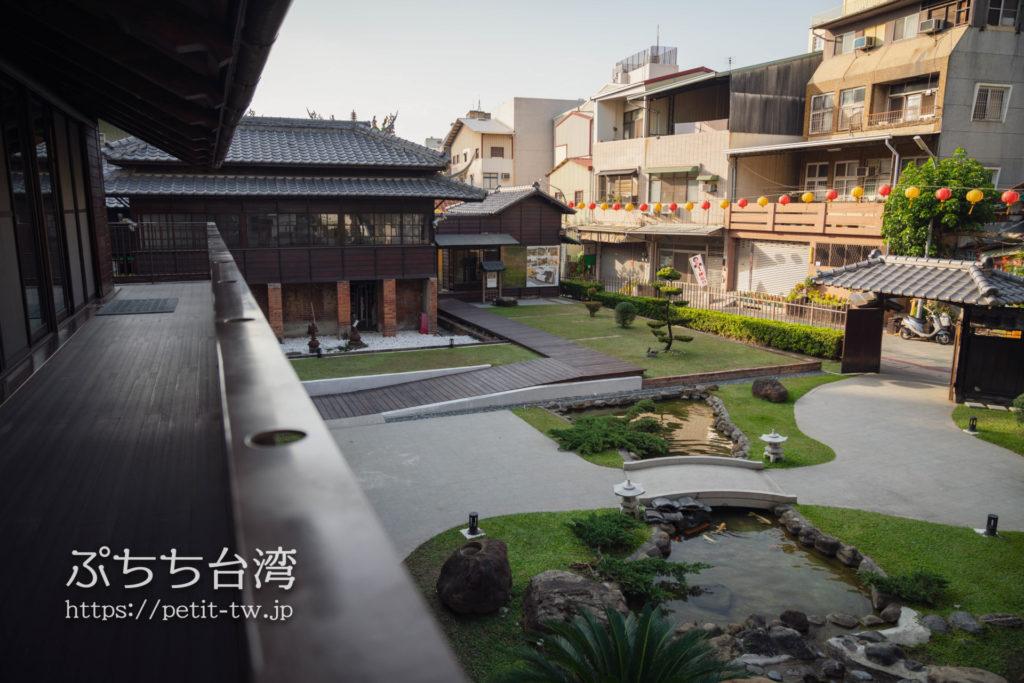 台南の旧料亭の鶯料理の日本庭園