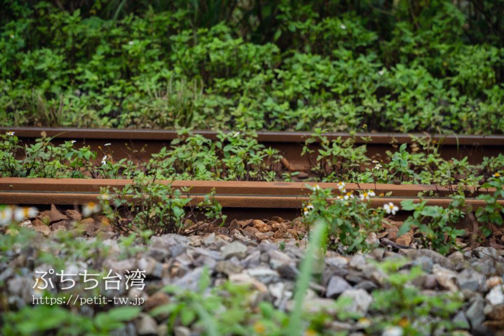 平渓線の平渓駅の線路