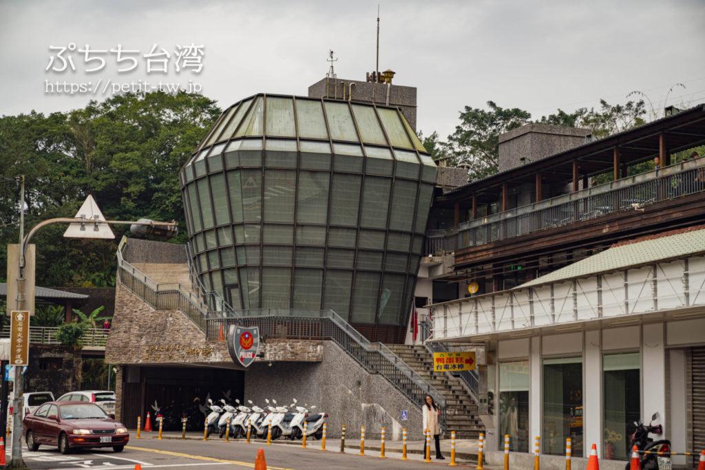 平渓線の菁桐駅にある警察署のランタンスクリーン