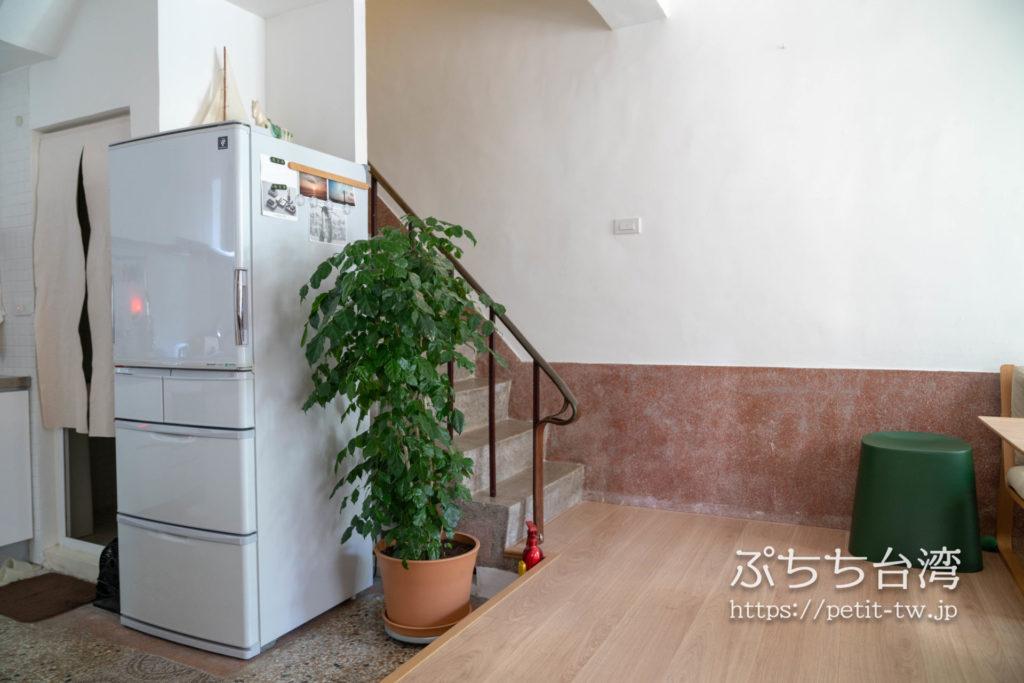 台南のAirbnb 小巷旺宅の1階の共用リビング