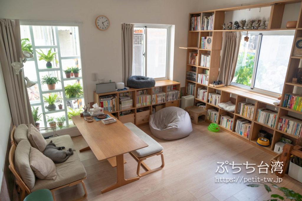 台南のAirbnb 小巷旺宅の共用リビング