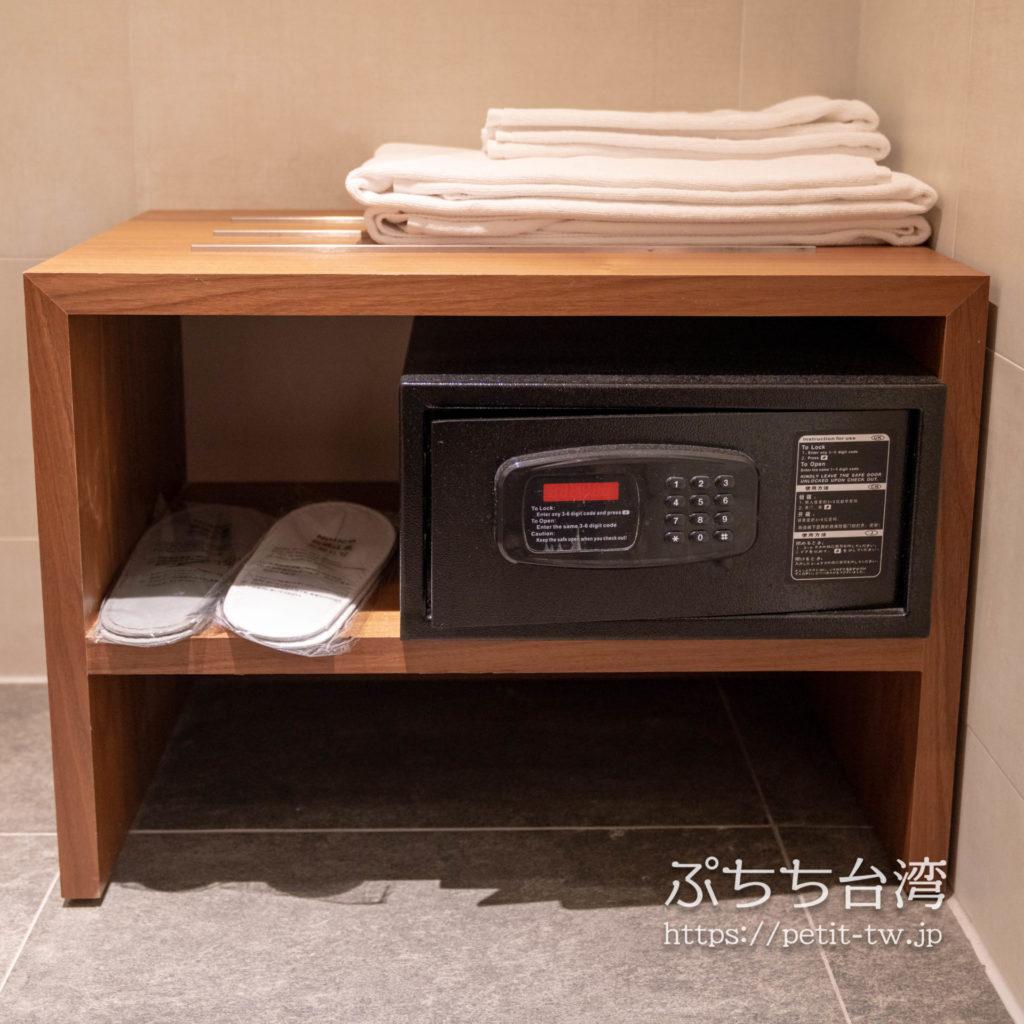 オレンジホテル ウェンフア 嘉義(フォルテオレンジビジネスホテル、福泰桔子商旅 文化店、Orange Hotel Wenhua Chiayi)の部屋のセキュリティーボックス