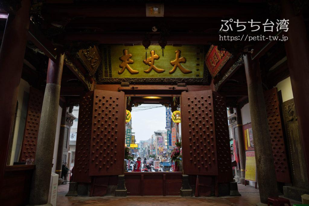 台南の祀典武廟の廟内