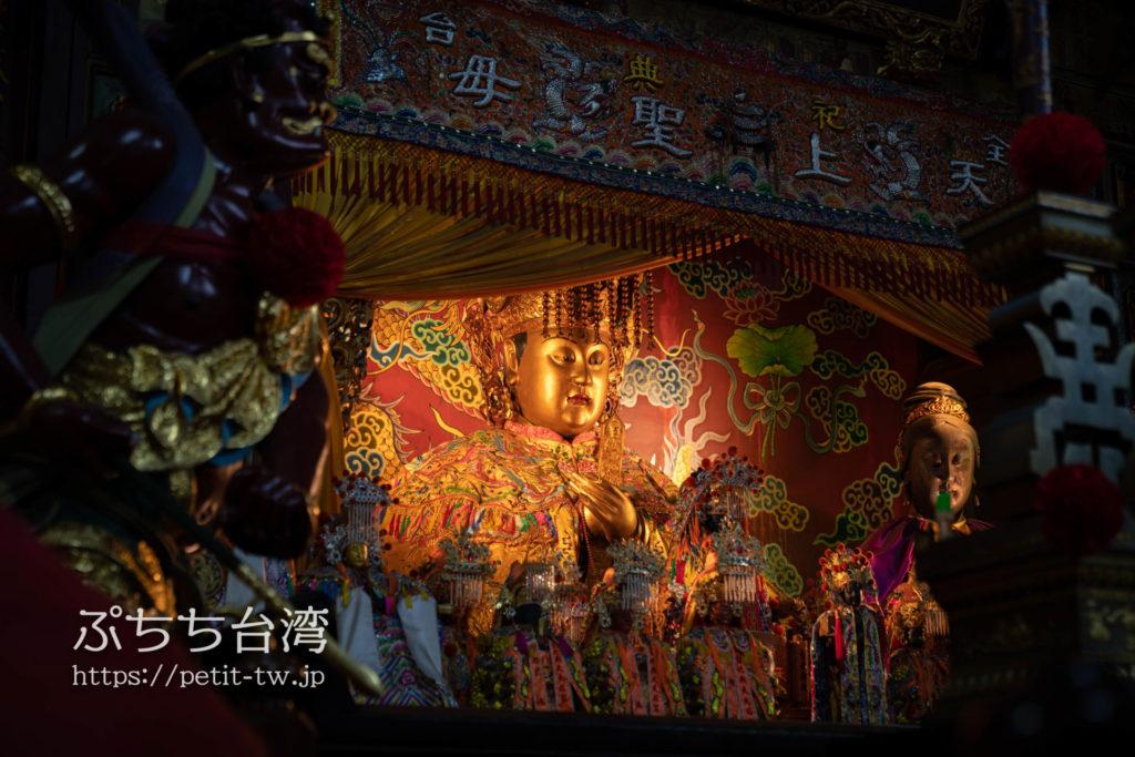 台南の大天后宮の媽祖