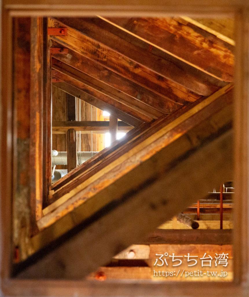 旧台中市役所の屋根裏の木材